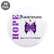 """Alzheimer'sDisease Butterfly 3.5"""" Button (10 pack)"""