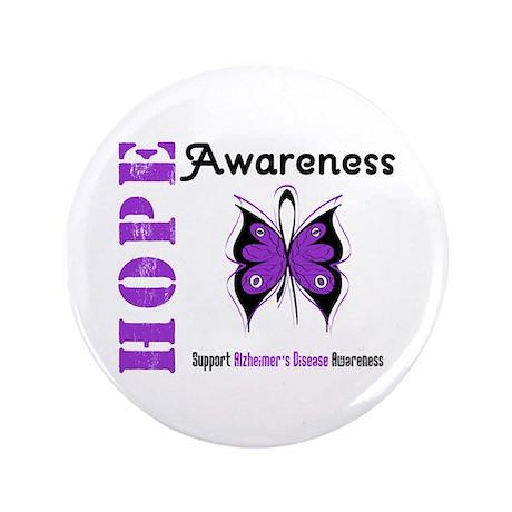 """Alzheimer'sDisease Butterfly 3.5"""" Button (100 pack"""