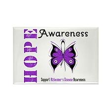 Alzheimer'sDisease Butterfly Rectangle Magnet