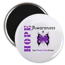 """Alzheimer'sDisease Butterfly 2.25"""" Magnet (100 pac"""