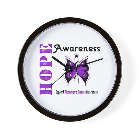 Alzheimer'sDisease Butterfly Wall Clock