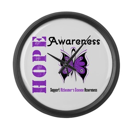 Alzheimer'sDisease Butterfly Large Wall Clock