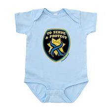 Thin Blue Line Serve Protect Infant Bodysuit