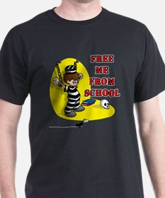 Free Me From School Black T-Shirt