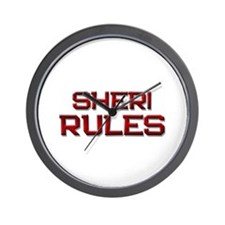 sheri rules Wall Clock