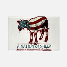 A Nation of Sheep Rectangle Magnet