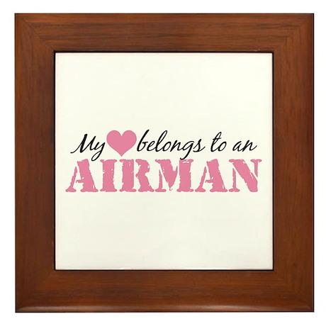 My Heart Belongs To an Airman Framed Tile