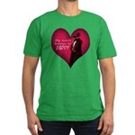 My heart belongs to DADDY Men's Fitted Tee