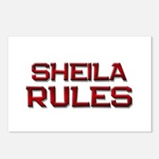 sheila rules Postcards (Package of 8)