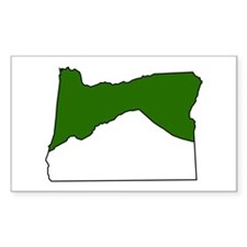 Mt. Hood, OR Rectangle Decal