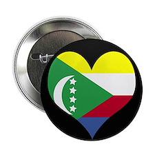 """I love Comoros Flag 2.25"""" Button"""