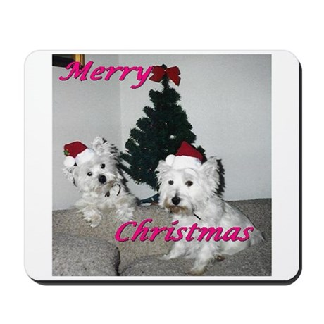 Credible Critter Westie Christmas Mousepad