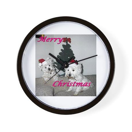Credible Critter Westie Christmas Wall Clock