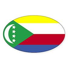 Comoros Flag Oval Decal