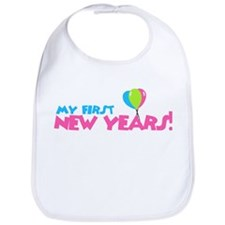 My First New Years! Girl Bib