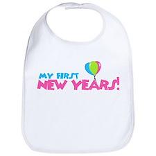 My First New Years! Girl Bib