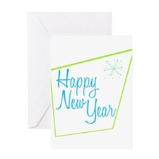Happy New Year: Retro Greeting Card
