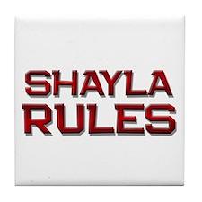 shayla rules Tile Coaster
