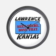 lawrence kansas - been there, done that Wall Clock