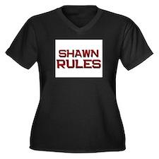 shawn rules Women's Plus Size V-Neck Dark T-Shirt