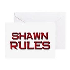 shawn rules Greeting Card