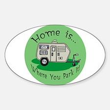 Trailer Park Home Oval Bumper Stickers