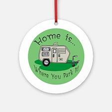 Trailer Park Home Ornament (Round)