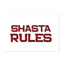 shasta rules Postcards (Package of 8)