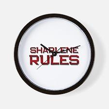 sharlene rules Wall Clock
