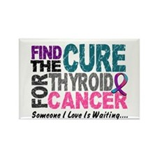Find The Cure 1 THYROID CANCER Rectangle Magnet