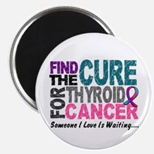 "Find The Cure 1 THYROID CANCER 2.25"" Magnet (10 pa"