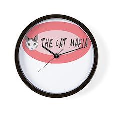 The Cat Mafia Wall Clock