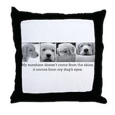 My Dog's Eyes Throw Pillow