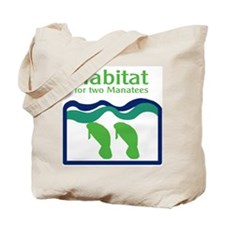 Habitat for two Manatees Tote Bag