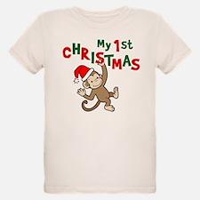 My First Christmas - Monkey T-Shirt