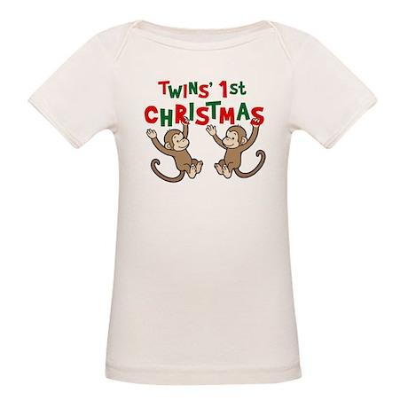 My First Christmas Gingerbrea Organic Baby T-Shirt