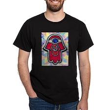 Nested Hamsa Shin Black T-Shirt