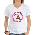 Cute Save The Rainforest Women's V-Neck T-Shirt