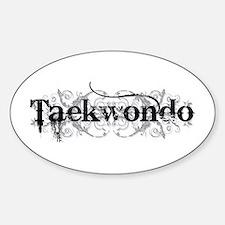 Taekwondo Oval Decal