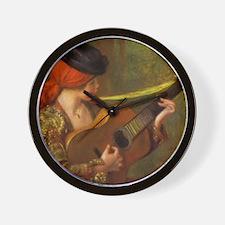 Renoir Spanish Woman with Guitar Wall Clock