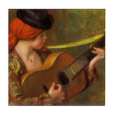 Renoir Spanish Woman with Guitar Tile Coaster