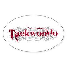 Taekwondo Red Oval Decal