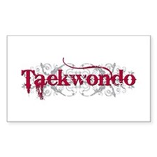 Taekwondo Red Rectangle Decal