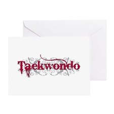Taekwondo Red Greeting Card