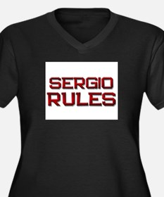 sergio rules Women's Plus Size V-Neck Dark T-Shirt