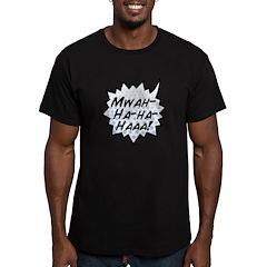 'Evil Laugh' Men's Fitted T-Shirt (dark)