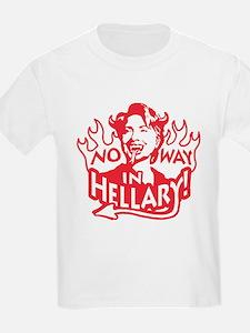 No Way Hellary Kids T-Shirt