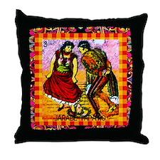Vintage Jarabe Tapatio Loteri Throw Pillow