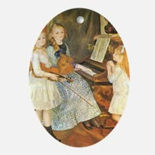Renoir Daughters of Catulle Mendes Ornament (Oval)