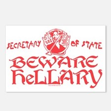 SOS Beware Hillary Postcards (Package of 8)